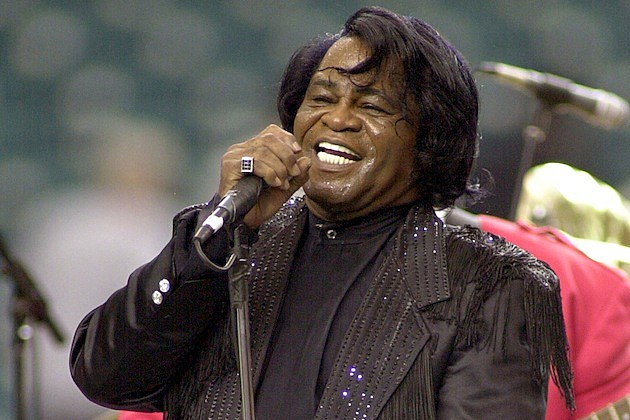 James Brown performs at Falcons Game