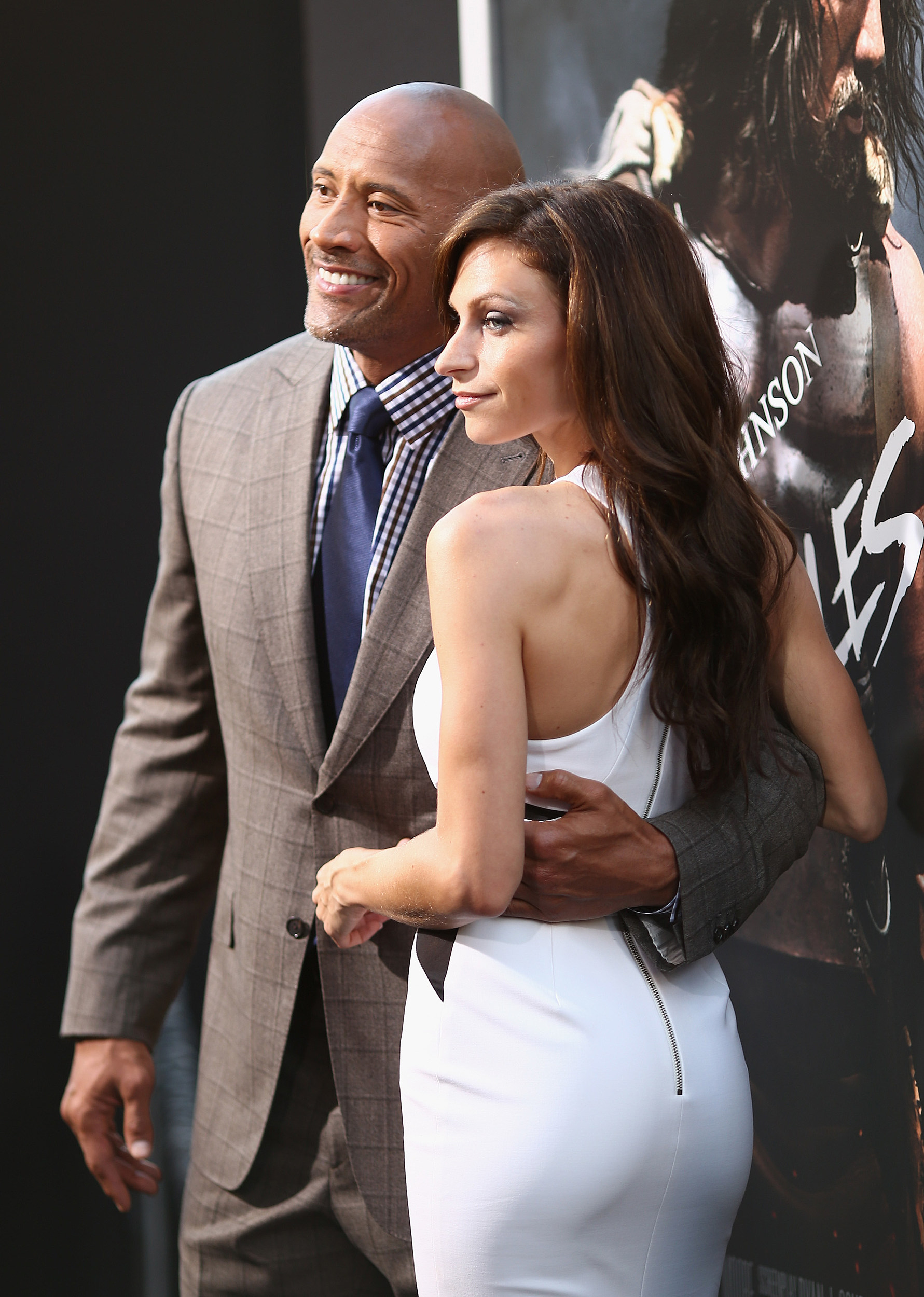 Dwayne johnson and lauren hashian attend the premiere of paramount